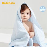 巴拉巴拉婴儿毛毯小被子宝宝盖毯防风毯儿童盖被2020新款纯棉透气