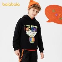 【1.27超品 3件3折:80.7】巴拉巴拉�和�童�b男童加�q�l衣冬�b中大童上衣潮酷印花男
