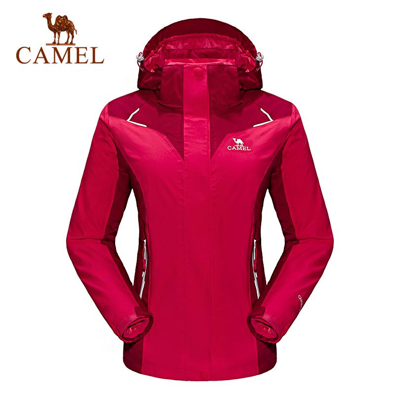 【满259减200元】camel骆驼户外冲锋衣 女款保暖三合一两件套冲锋衣