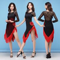 拉丁舞裙时尚新款成人女流苏练功服 拉丁舞演出服表演服装春夏季