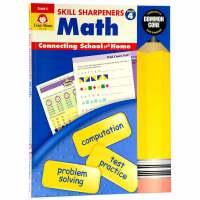 【中商原版】英文原版 Skill Sharpeners Math Grade 4 数学技巧:4年级