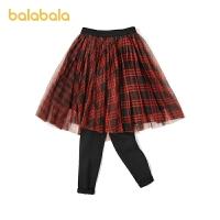 【3.11超品 折后�A估�r:62.7】巴拉巴拉�和�打底�女童�子秋冬季中大童格�y�W�裙�女