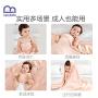 迷你巴拉巴拉新生婴儿浴巾超柔吸水洗澡巾儿童卡通兔耳朵初生浴巾