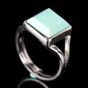 原矿高瓷绿松石戒指 重2.92g