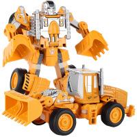 合金变形金刚机器人模型儿童玩具礼盒套装工程车铲车男孩玩具车