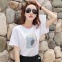【春暖特惠价】Coolmuch女士宽松棉质圆领印花短袖T恤JW5068