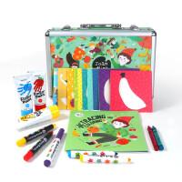 美乐儿童绘画套装礼盒水彩笔蜡笔手指画颜料无毒可水洗开学礼物