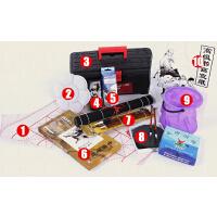 马利牌中国画颜料工具组合套装1 8色马利国画颜料10件套