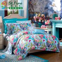 富安娜家纺 圣之花全棉四件套床品纯棉套件 神秘庄园
