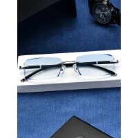 丹阳眼镜男钻石切割无框大脸高度变色防蓝光配镜眼镜