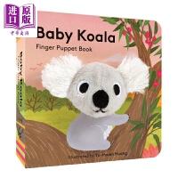 【中商原版】小小手指偶书考拉宝宝 Baby Koala Finger Puppet Book0-3手掌纸板书