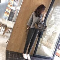 初秋季港味女神帅气成熟街拍小香风俏皮网红裤两件套装女秋冬 图片色套装