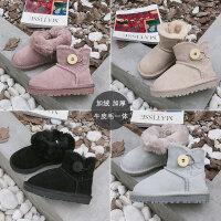 儿童雪地靴女童棉靴2018秋冬新款男童靴子宝宝短靴加厚童鞋