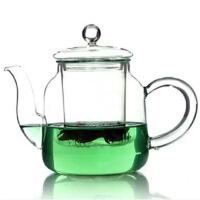 HEISOU 耐高温玻璃茶具功夫茶壶 过滤透明泡茶壶带盖 加热花草茶壶800ml