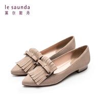 莱尔斯丹 商场同款浅口流苏装饰低跟单鞋9T17213