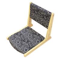 【家装节 夏季狂欢】日式榻榻米椅子坐垫实木凳靠背折叠椅无腿懒人宿舍床上座椅和室椅