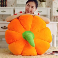创意南瓜抱枕公仔 蔬菜水果毛绒玩具 布娃娃玩偶坐垫 万圣节礼物