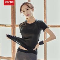 【新春惊喜价】Coolmuch女士修身显瘦速干透气薄款运动健身短袖T恤上衣RE98005