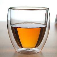 250ML玻璃杯花茶杯茶杯水杯饮料杯双层创意蛋形白酒杯茶具套装配件