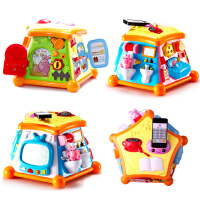 澳贝生活体验馆多功能玩具六面趣味小屋婴幼儿童宝宝学习屋游戏台