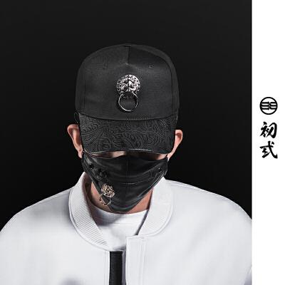 初弎复古潮牌中国风狮子头弯沿棒球帽子夏男女出行鸭舌帽子46068