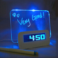 闺蜜创意礼品 时钟留言板实用礼物送情人节