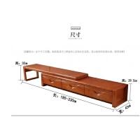 实木沙发组合简约现代中式大中小户型茶几红椿木红色木质办公家具 组合