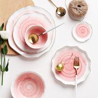 光一欧式金边陶瓷餐具家用创意大号大汤碗西餐盘牛排盘碟子饭碗菜盘碗
