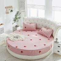 君别圆床床笠单件圆形床品床单四件套床罩防滑床垫保护套订做