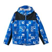 【新品5折到手价:250探路者童装 20春夏新款户外耐沾污防泼水男/女童风雨衣QABI85043