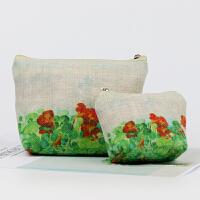 【包邮】原创艺术衍生品 文创 文艺 棉麻零钱包 化妆包 布包 手拿包