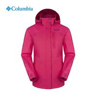 Columbia/哥伦比亚户外女款防水透气抓绒内胆三合一冲锋衣PL7043