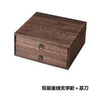普洱茶盒�Y品盒��木通用茶�~包�b木盒茶�空盒木盒子�物�木盒定制