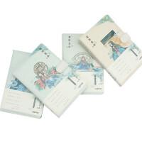 联华花间旧事PU磁扣插画笔记本记事本月计划/横线/方格/空白/点阵单本装图案随机