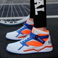 DAZED CONFUSED男士系带板鞋透气高帮运动鞋韩版学生潮鞋男鞋时尚加高运动鞋篮球鞋