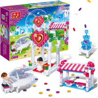 【小颗粒】邦宝女孩礼品塑料积木拼插益智儿童玩具幸福之门6106