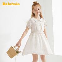 【3件5折价:90】巴拉巴拉女童公主裙儿童连衣裙夏装大童裙子印花雪纺裙女