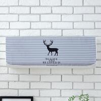 空调罩挂机防尘罩1.5匹格力海尔奥克斯挂式空调套内胆全包1P收纳用品防尘罩 条纹麋鹿 长102*厚24*高30