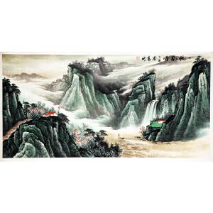 王高昕《一帆风顺》著名书画家  有作者本人授权