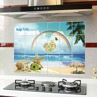 10张装厨房防油贴纸吸油烟机耐高温灶台贴铝箔隔油墙贴纸花色随机