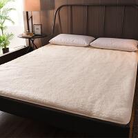 君别保暖澳洲羊毛床垫软垫1.8m床榻榻米保护垫加厚单人床褥垫冬季褥子 双人床:180*200CM 柔软舒适 加厚保暖