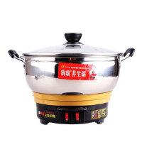锅霸 多功能电热锅24cm 电火锅 电煮锅 电炒锅 一锅多用 烹饪样样