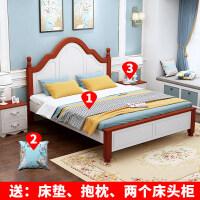 20190403023731451实木床1.8米现代简约双人床主卧公主欧式床单人1.2m经济型1.5米床