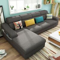 北欧布艺沙发客厅整装三人沙发小户型客厅整装可拆洗简约现代乳胶棉麻