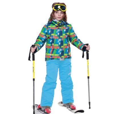 儿童滑雪服男童保暖户外冲锋衣裤两件套套装
