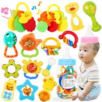 婴儿玩具 0-1岁 牙胶手摇铃套装 3-6-12个月新生儿宝宝玩具婴幼儿