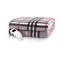 彩阳电热毯(180*180cm)双人左右(或上下)双温双控碳纤维3档智能定时加厚加大安全防水电褥子WT888