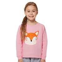 派克兰帝童装 女童可爱狐狸套头卫衣女孩秋季上衣