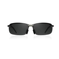 时尚偏光太阳镜男司机镜潮人男士墨镜圆脸个性铝镁合金眼镜男