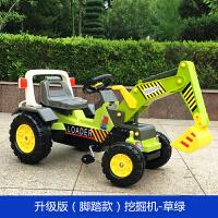 儿童挖掘机可坐可骑电动挖土机男孩玩具车钩机工程车2-4-6岁
